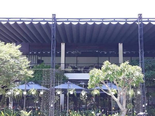 Công ty Đại Mạnh Khá hiện đang là địa chỉ mua mái che quán cà phê, nhà hàng uy tín