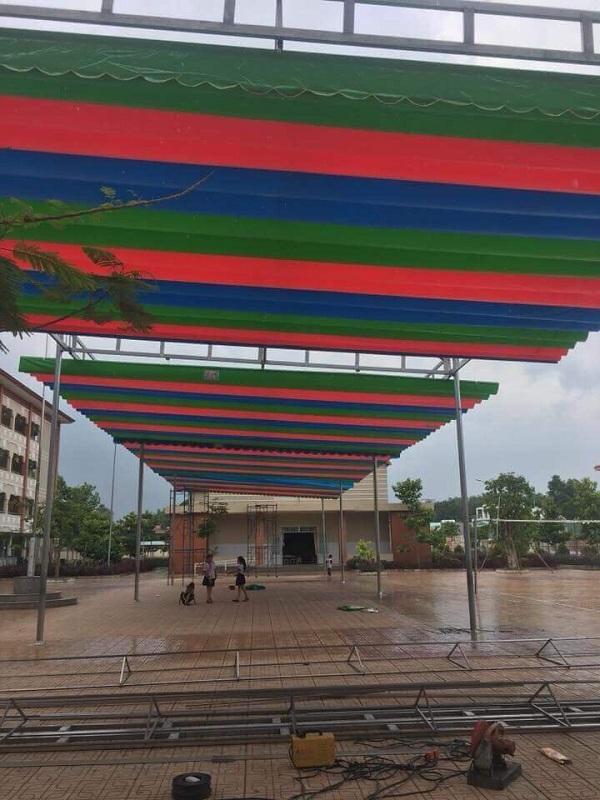 Mái che mưa có thể sử dụng linh hoạt tùy theo thời tiết