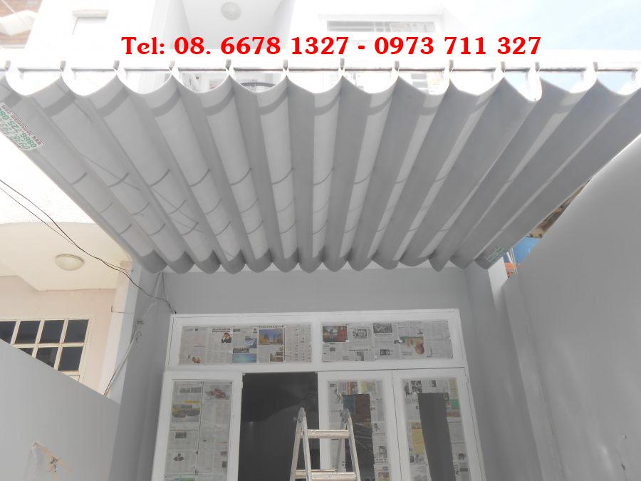 Mẫu mái xếp dễ dàng thuận tiện để gập vào khi không có nhu cầu sử dụng