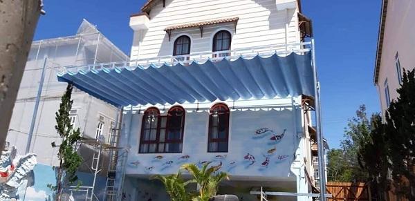 Mái che nhà phố ở quận 2 Thảo Điền