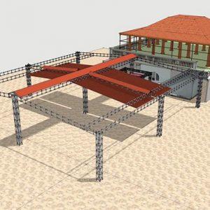 Mái xếp quán cafe MXLS-24-2