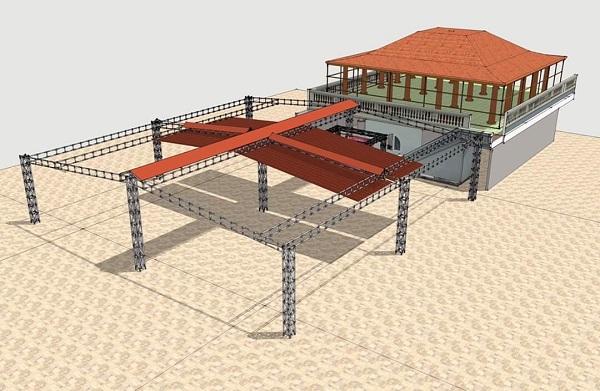 Mái xếp quán cafe MXLS-25
